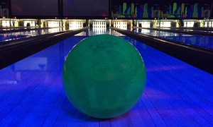 Hugo's on the Hill: One Hour of Bowling with Shoe Rental, Beer or Soda Pitcher, and One-Topping Pizza at Hugo's on the Hill (Up to 47% Off)