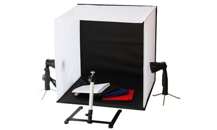 Kit per studio fotografico portatile disponibile in 2 modelli
