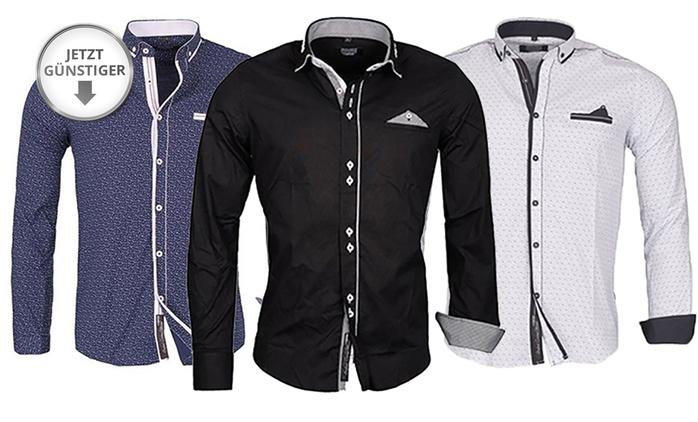 Sportliches Hemd für Herren von Carisma mit Knopfleiste in der Farbe nach Wahl (75% sparen*)