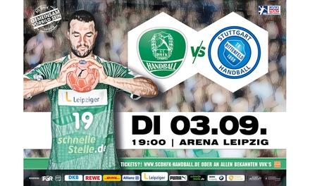 2 Handball-Bundesliga-Tickets: SC DHfK Leipzig vs. TVB Stuttgart am 03.09. in der ArenaLeipzig (50% sparen)
