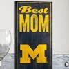 "NCAA 12""x6"" Best Mom Sign"