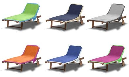 Telo mare per lettino con cuscino disponibile in vari colori