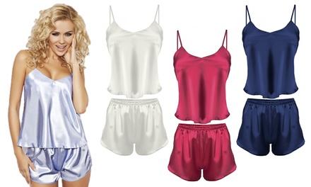 Karen Satin Shorts Pajamas