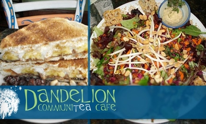 Dandelion Communitea Cafe - Lake Eola Heights: $5 for $10 Worth of Organic Vegetarian Fare and Tea at Dandelion Communitea Cafe