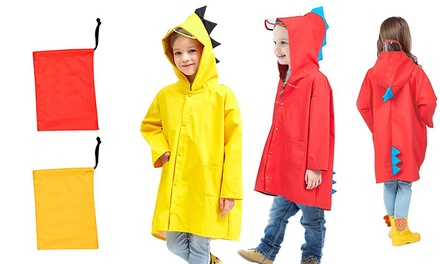 Chaqueta impermeable con diseño de dinosaurio para niños