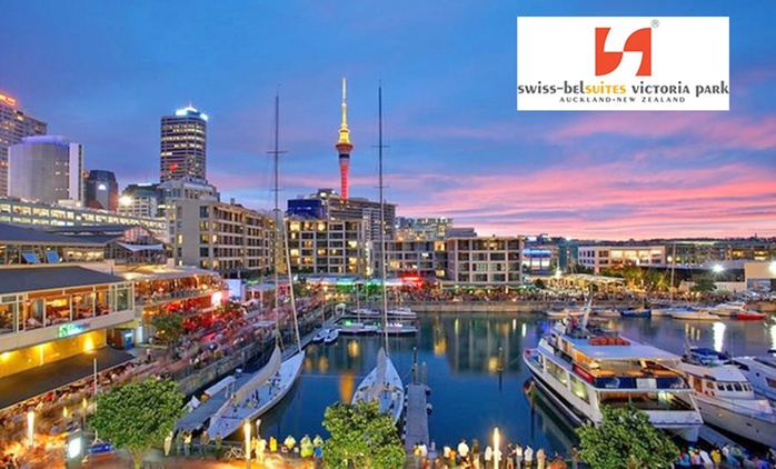 Auckland: 1 or 2-Night Apartment Stay for 2 or 4 People + Breakfast and Bottle of Wine at Swiss-Belsuites Victoria Park