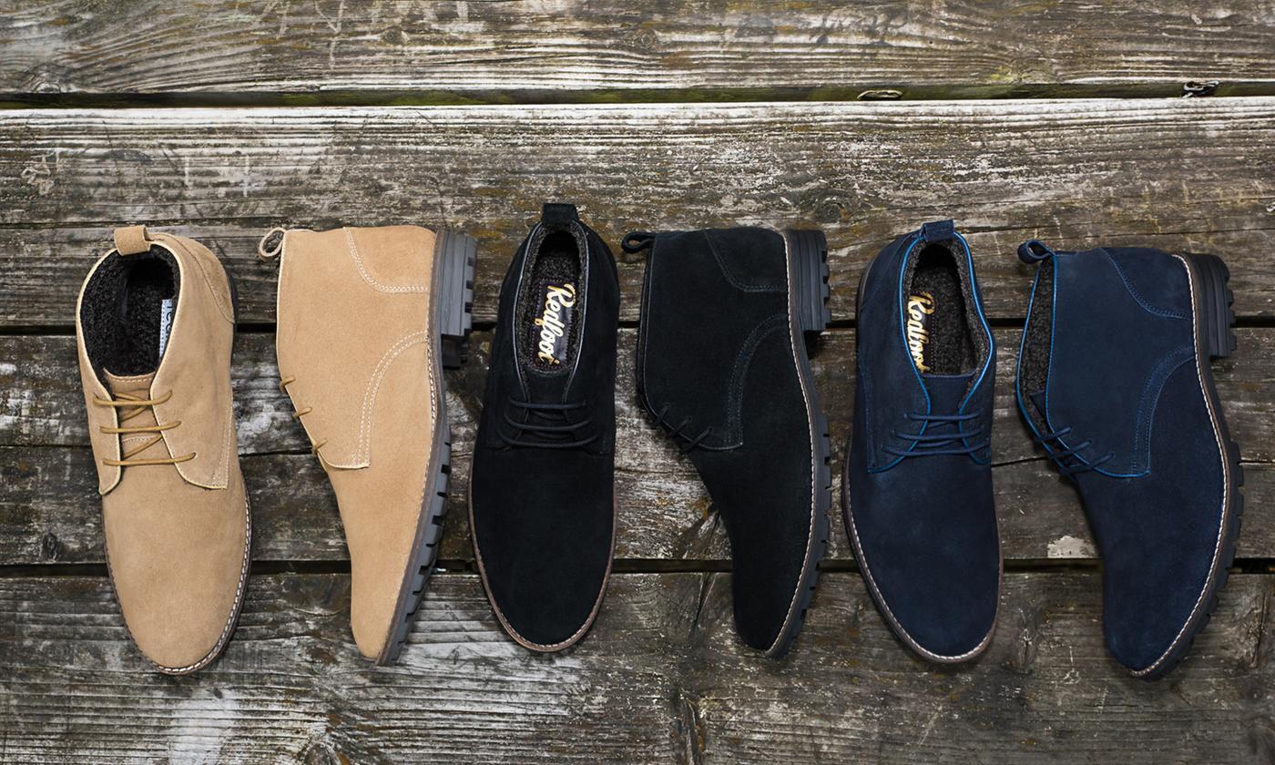 Redfoot Men's Water-Resistant Suede Desert Boots