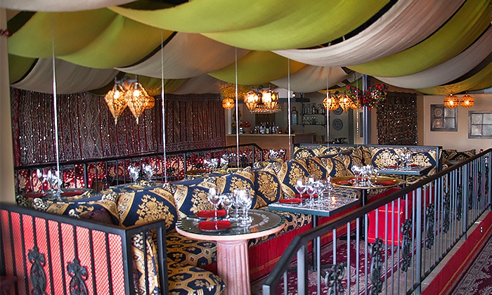 Moroccan Tent Restaurant - Southeast Calgary: Five-Course Dinner for Two or Four at Moroccan Tent Restaurant (Up to 45% Off)