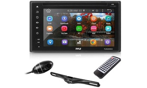Pyle Double DIN Car Stereo, DVR Dash Cam, & Backup Cam
