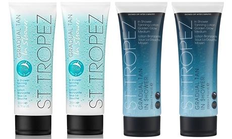 Packs de 2, 3 o 4 lociones bronceadora gradual de ducha St Tropez