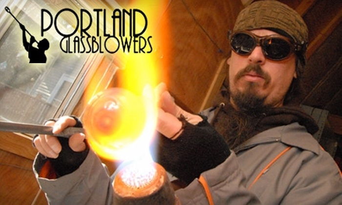 Portland Glass Blowers - Lents: $50 for a One-Hour Glass-Blowing Class for Two at Portland Glass Blowers ($100 Value)