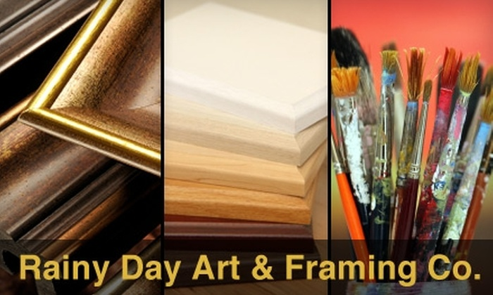 Rainy Day Art & Framing Company - Grosse Pointe: Up to 60% Off Services and Supplies at Rainy Day Art & Framing Company in Grosse Pointe Woods. Choose from Two Options.