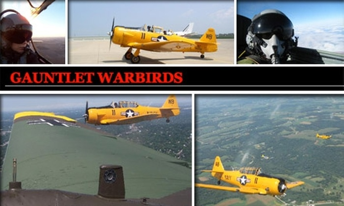 Gauntlet Warbirds  - Chicago: $160 for 30-Minute Flight with Aerial Acrobatics from Gauntlet Warbirds ($275 Value)