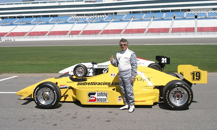 Mario Andretti Racing Experience - Chicagoland Speedway: Three-Lap Ride-Along or Three-Hour Driving Experience from Mario Andretti Racing Experience (Up to 51% Off)