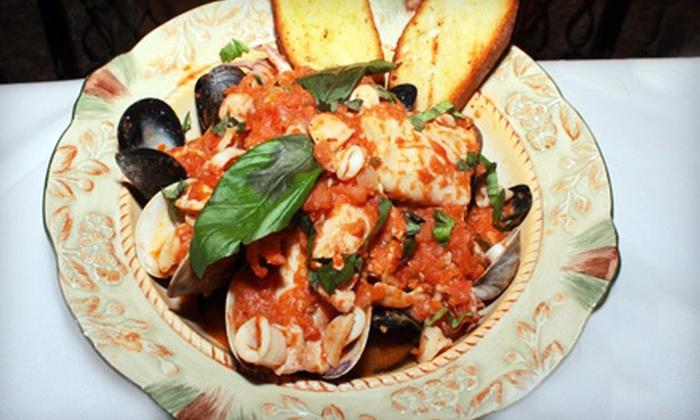 Villa Francesca - North End: Upscale Italian Dinner Cuisine at Villa Francesca (Half Off). Two Options Available.
