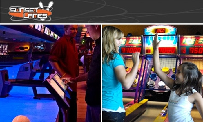 Sunset Lanes - Central Beaverton: $9 for Two Games of Bowling for One Person, Plus One Shoe Rental and a $6 Arcade Card at Sunset Lanes