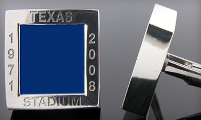 Stadium Cuffs: $79 for One Pair of Authentic Stadium Cuff Links from Stadium Cuffs (Up to $278.19 Value)