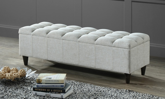 Phenomenal Up To 44 Off On Tufted Storage Ottoman Groupon Goods Onthecornerstone Fun Painted Chair Ideas Images Onthecornerstoneorg