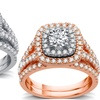 1.75 CTTW Certified I1 Diamond Bridal Set in 14K White or Rose Gold