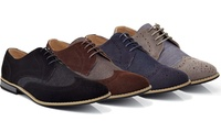 Franco Vanucci Men's Denim Wingtip Oxford Shoes