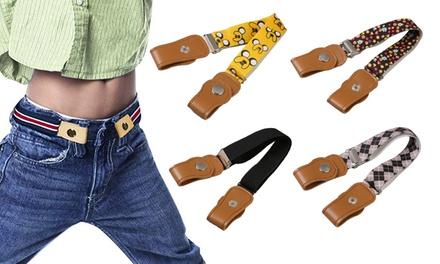 Cinturón elástico sin hebilla para niños