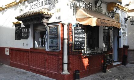 Menú de arroz a elegir para 2 o 4 personas con entrante y botella de vino o bebida desde 29,95 € en Hostería del Laurel