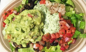 Big E's Burritos, Bowls & Salads: Mexican Food at Big E's Burritos, Bowls & Salads (Up to 45% Off). Two Options Available.