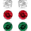 6.00 CTTW Gemstone Stud Earrings Set by MUIBLU Gems (3 Pairs)