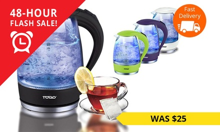 $19.95 for a Todo Cordless LED Glass Kettle Don't Pay $149.95