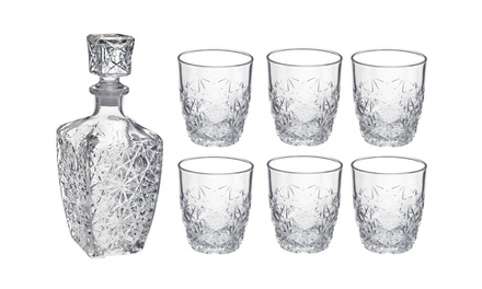 Rocco Bormioli Dedalo Spirit Decanter or Decanter and Glasses Set