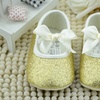 Baby Gold or Silver Sparkle Slippers