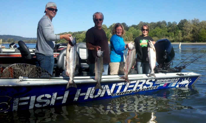 Fish Hunters Guide Service - Washougal: All-Day Fishing Trip with Bait and Equipment Rental for One or Two from Fish Hunters Guide Service (50% Off)