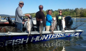 Fish Hunters Guide Service: All-Day Fishing Trip with Bait and Equipment Rental for One or Two from Fish Hunters Guide Service (50% Off)