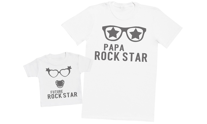 ensemble t shirt papa et b b groupon shopping. Black Bedroom Furniture Sets. Home Design Ideas