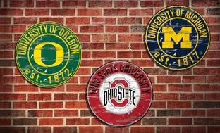 NCAA Vintage Distressed Signs