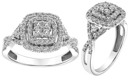 1/2 CTTW Cambridge Diamond Fashion Ring in Solid 10K Gold