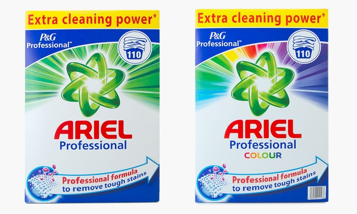One or Two Boxes of Ariel Professional Washing Powder 7kg or 14.3kg, 110 or 220 Loads from £16.99