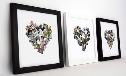 Personalised Framed Collage from Artf.ly (Up to 88% Off)