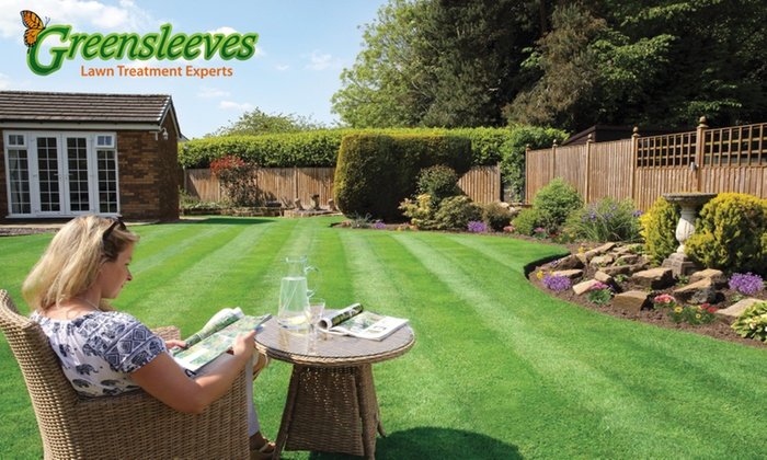 Greensleeves Lawn Care - Multiple Locations: 100, 200 or 400 Square Metre Lawn Treatment from Greensleeves Lawn Care (Up to 58% Off)