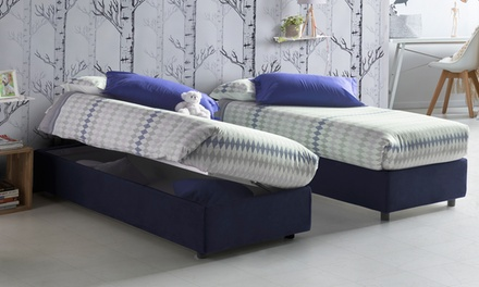 Letto sommier con contenitore groupon goods - Letto contenitore groupon ...