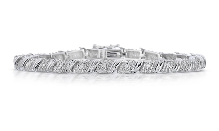 1/4 CTTW Genuine Diamond Bracelet