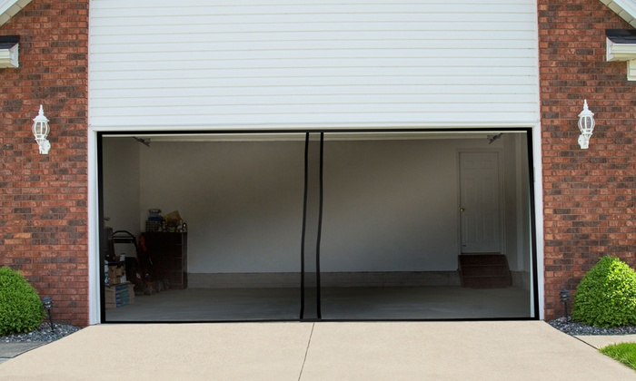 pure garden garage door screen curtains groupon. Black Bedroom Furniture Sets. Home Design Ideas