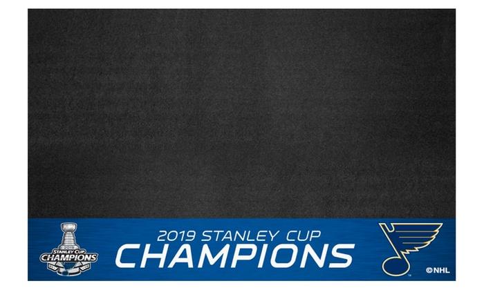 FANMATS St Louis Blues 2019 Stanley Cup Champions Grill Mat 26x42