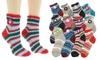 Angelina Cozy Knitted Women's Socks with Non-Skid Bottom (12-Pack)