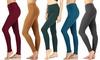 Women's Cotton Full Length Leggings. Plus Sizes Available.