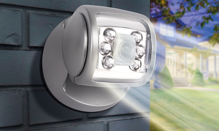 Wireless led motion sensor light groupon goods groupon goods global gmbh one two three or four wireless led porch motion mozeypictures Images