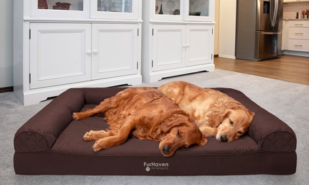 FurHaven Sofa-Style Orthopedic Pet Dog Bed Mattress