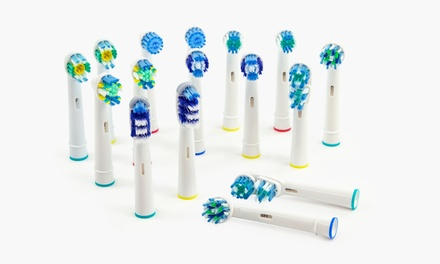1, 2, 4 of 8 sets van vier opzetborstels geschikt voor elektrische tandenborstels van OralB