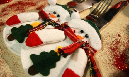 4, 8, 12 or 16 Snowman Cutlery Holders
