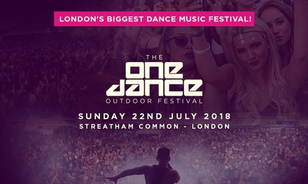 One Dance Festival 2018, 22 July, Streatham Common, London (Up to 22% Off)